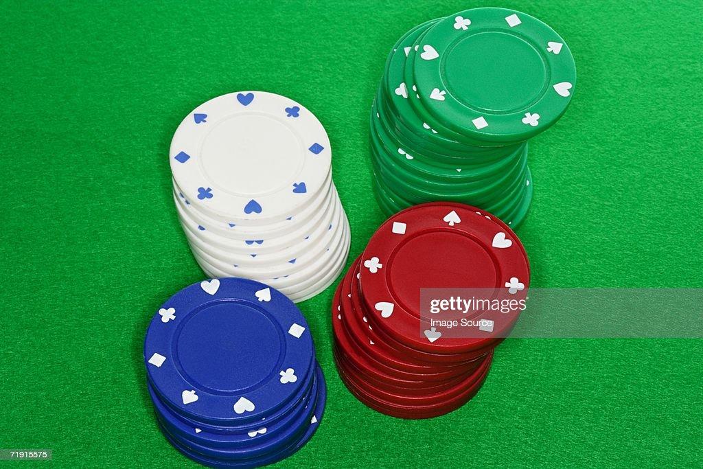 Gambling chips : Stock Photo