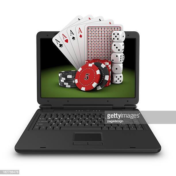 Jogos de azar coisas no computador portátil