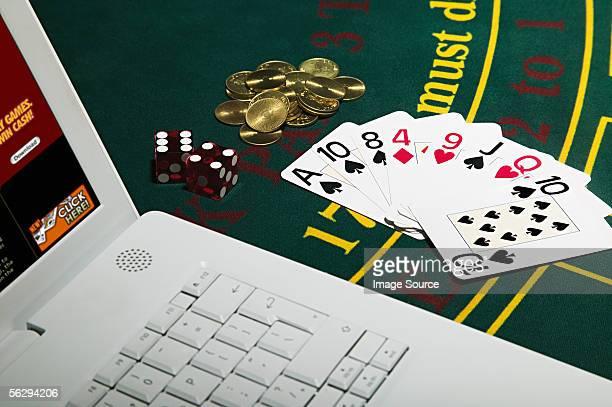 Gambling with laptop computer