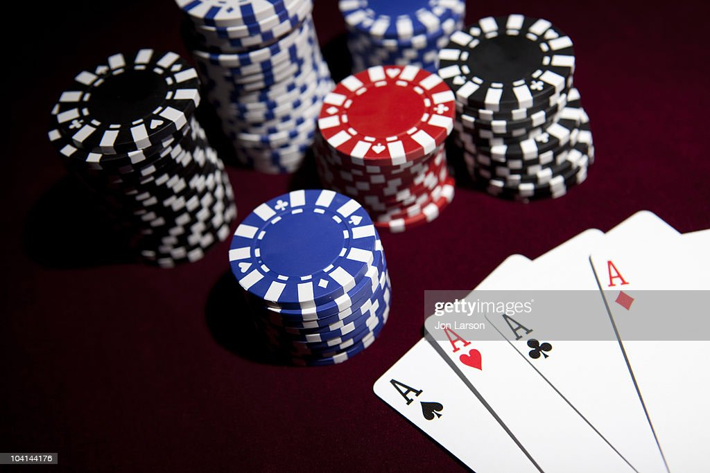 Gambling with Playing Cards : Stock Photo