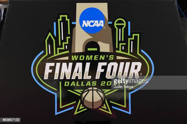 Game backstop with logo to the 2017 Women's Final Four at American Airlines Center on April 2 2017 in Dallas Texas