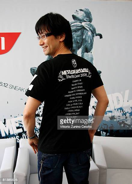 Game Designer Hideo Kojima attends the Metal Gear Solid 4 Guns of The Patriots Game Launch held at Terrazza Autogrill Piazza Duomo on June 3 2008 in...