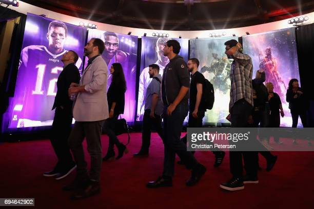 Game enthusiasts and industry personnel arrive to the Electronic Arts EA Play event at the Hollywood Palladium on June 10 2017 in Los Angeles...