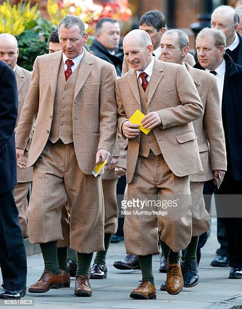 Game Keepers attend a Memorial Service for Gerald Grosvenor 6th Duke of Westminster at Chester Cathedral on November 28 2016 in Chester England...