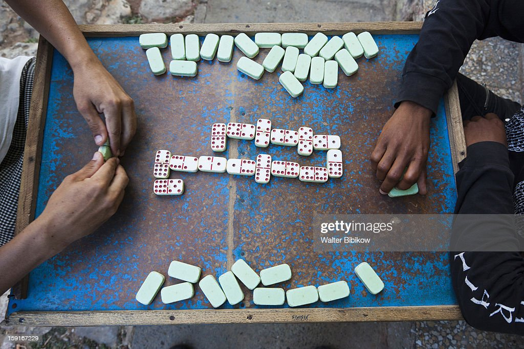 Game of dominoes : Stock Photo