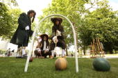 A game of 'Paille Maille' is played on the Mall by players dressed in 17th century period costume on June 16 2009 in London England It is the first...