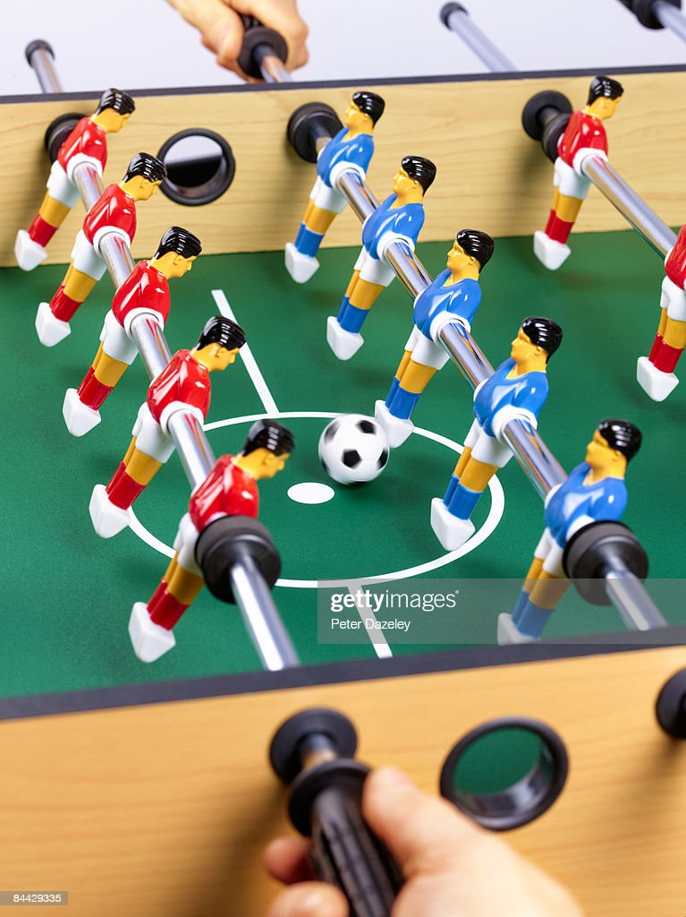 Game of table football : Stock Photo
