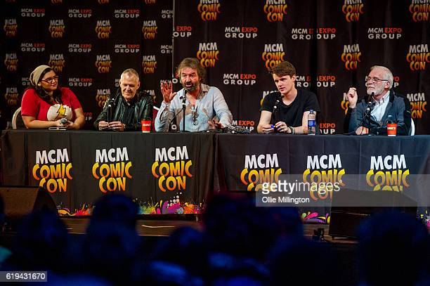 Game of Thrones acters Ian Gelder Ian Bettie Eugene Michael Simon Ian Bettie a d Ian McElhinney discuss the show onstage during day 3 of the MCM...