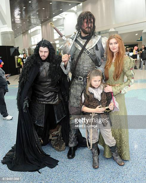 Game Of Thrones cosplayers at day 3 of Stan Lee's Los Angeles Comic Con 2016 held at Los Angeles Convention Center on October 30 2016 in Los Angeles...