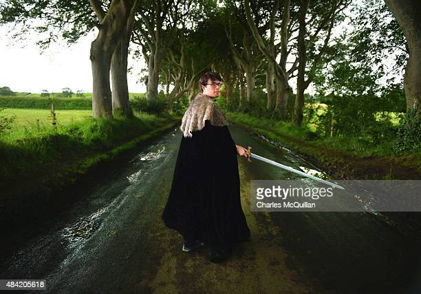 Game of Thrones fan visits a tree lined road known as The Dark Hedges on August 13 2015 in Belfast Northern Ireland According to recent audited...