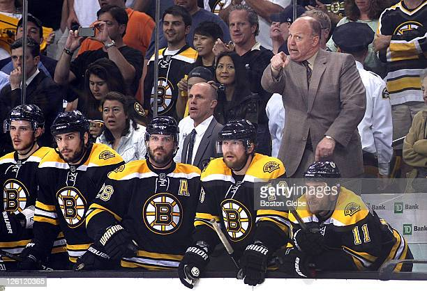 Game Seven of the Eastern Conference Finals Bruins coach Claude Julien still yells out instructions with seconds left in the game
