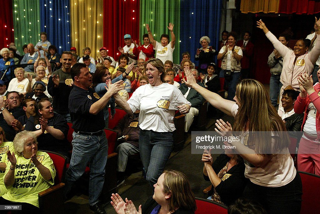 A game show contestant is chosen to play during the 6000th taping of 'The Price Is Right' television show on February 19 2004 at CBS Television...