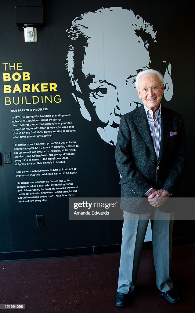 Game show host <a gi-track='captionPersonalityLinkClicked' href=/galleries/search?phrase=Bob+Barker&family=editorial&specificpeople=210681 ng-click='$event.stopPropagation()'>Bob Barker</a> hosts a press conference to reform the 'No Animals Harmed' Movie Label at The <a gi-track='captionPersonalityLinkClicked' href=/galleries/search?phrase=Bob+Barker&family=editorial&specificpeople=210681 ng-click='$event.stopPropagation()'>Bob Barker</a> Building on September 13, 2012 in Los Angeles, California.