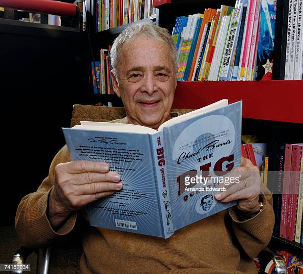 Game show producer Chuck Barris poses for a portrait before signing his book 'The Big Question' at Book Soup on May 14 2007 in Los Angeles California