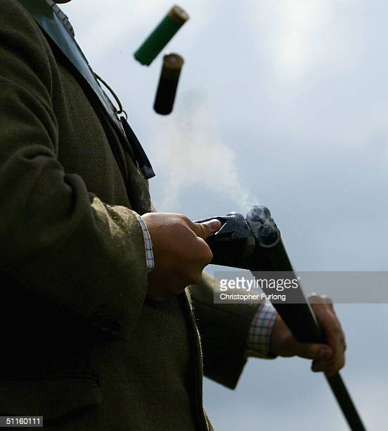 Gamekeeper Kyle Hogg prepares for tomorrow's start of the grouse shooting season on August 11 2004 on a moor outside Peebles Scotland The 'Glorious...
