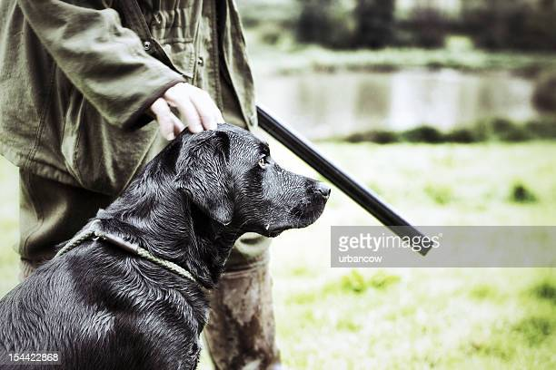 Gamekeeper  with his dog