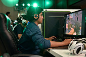 Gamers enjoy game sessions on consoles at Dew Arena All India gaming Championship as Mountain Dew Game Fuel is launched on June 9 2016 in New Delhi...