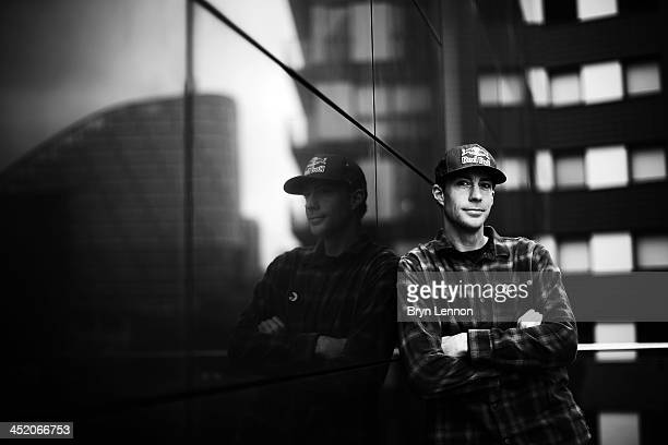 X Games gold medalist Travis Pastrana poses for a photo prior to the Nitro Circus Live Show at the MEN Arena on November 26 2013 in Manchester England