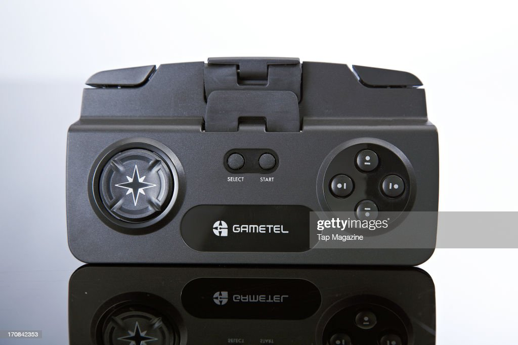 A Gametel game controller for iOS devices photographed during a studio shoot for Tap Magazine, November 29, 2012.