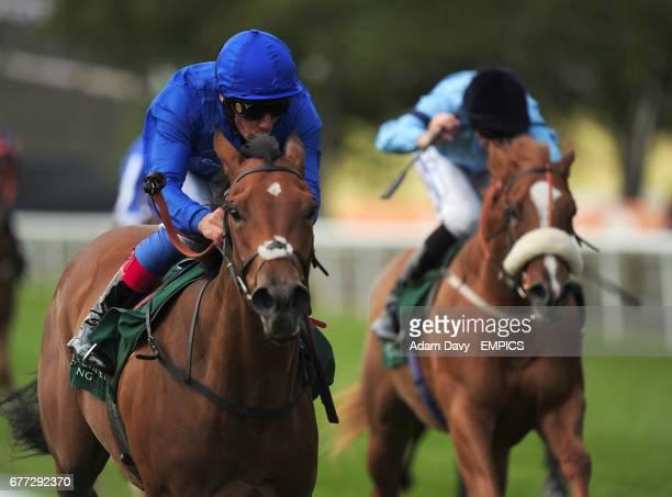 Gamilati ridden by Frankie Dettori comes home to win the Irish Thoroughbred Marketing Cherry Hinton Stakes