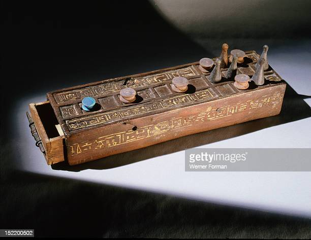 Gaming board and pieces for the games of twenty squares and senet In the New Kingdom the fate of the deceased in the afterlife was affected by...