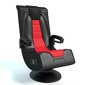 3d illustration of a gaming chair