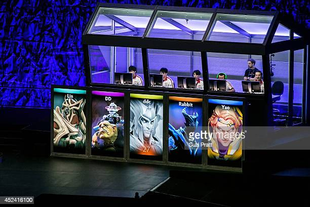 Gaming competes at The International DOTA 2 Champsionships at Key Arena on July 19 2014 in Seattle Washington