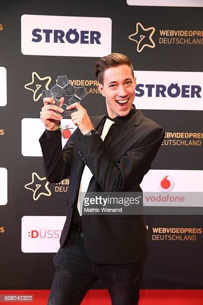 Gaming Winner HandOfBlood during the Webvideopreis Deutschland 2016 at Castello on June 4 2016 in Duesseldorf Germany