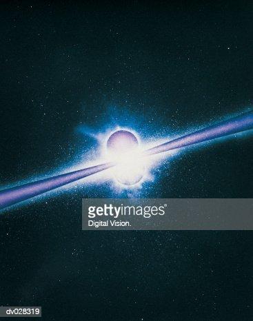 Gamma-ray bursts : Stock Photo