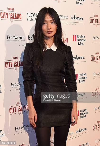 Gana Bayarsaikhan attends the opening of London City Island, the