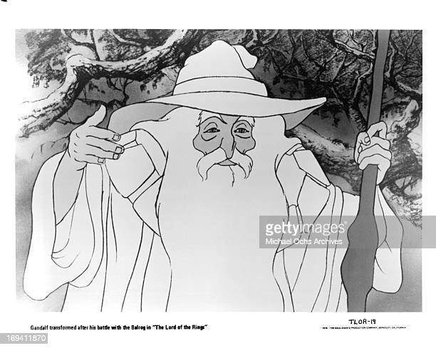 Gandalf the wizard from the film 'The Lord Of The Rings' 1978