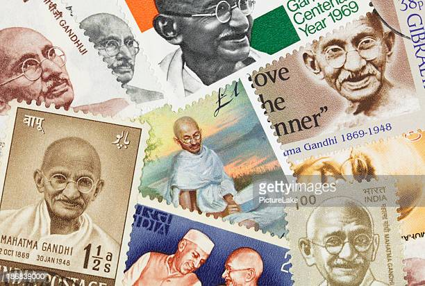 Gandhi postage stamp collection