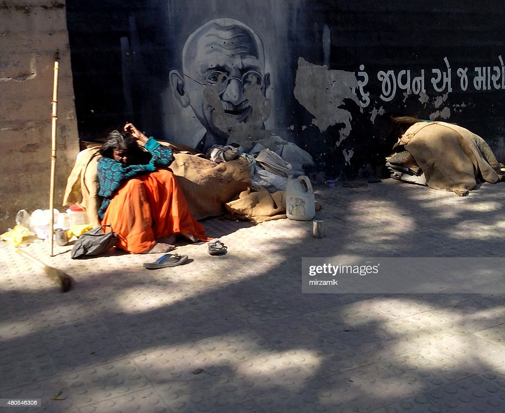 Gandhi de la India : Foto de stock