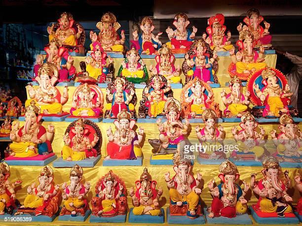Ganesha Idols Displayed For Sale