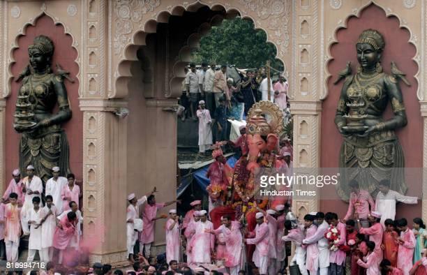 Ganeshotsav Ganesh Idol Immersion Visarjan Lalbaugcha Raja Ganpati procession at Lalbaug in