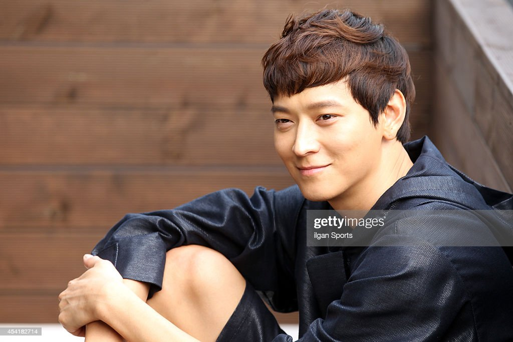 Gang Dong-Won poses for photographs on August 22, 2014 in Seoul, South Korea.