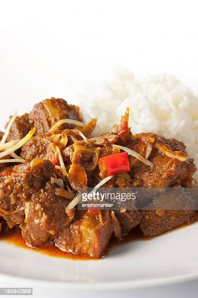 'Gang Hang Lay', traditional Burmese pork curry with ginger.