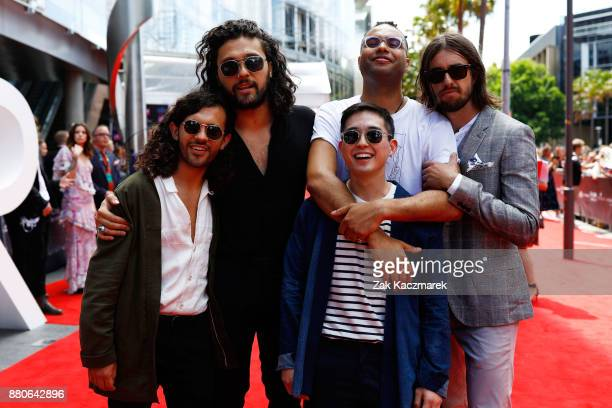 Gang of Youths arrive for the 31st Annual ARIA Awards 2017 at The Star on November 28 2017 in Sydney Australia