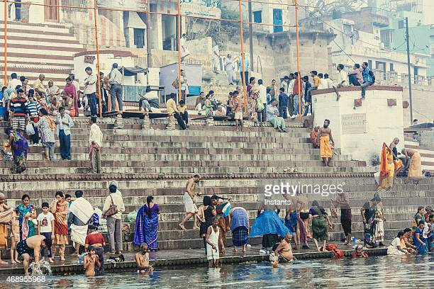 Ganges river bathers