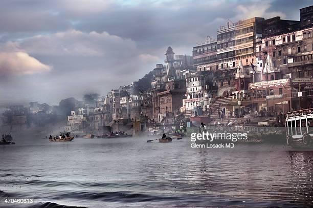 CONTENT] Ganges River the bathing Ghats boats scenic the holy city of BENARES