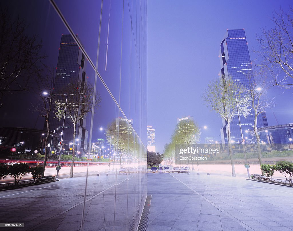 Gangnam shopping and business area of Seoul : Stock Photo