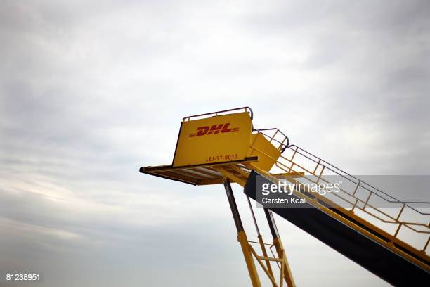 A gangway is seen at the airport LeipzigHalle on May 26 2008 in Leipzig Germany DHL Express opened a new European linchpin with about 2000 employees...