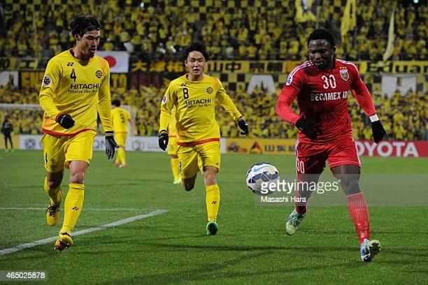 Ganiyu Bolaji Oseni of Binh Duong in action during the AFC Champions League Group E match between Kashiwa Reysol and Binh Duong at Hitachi Kashiwa...
