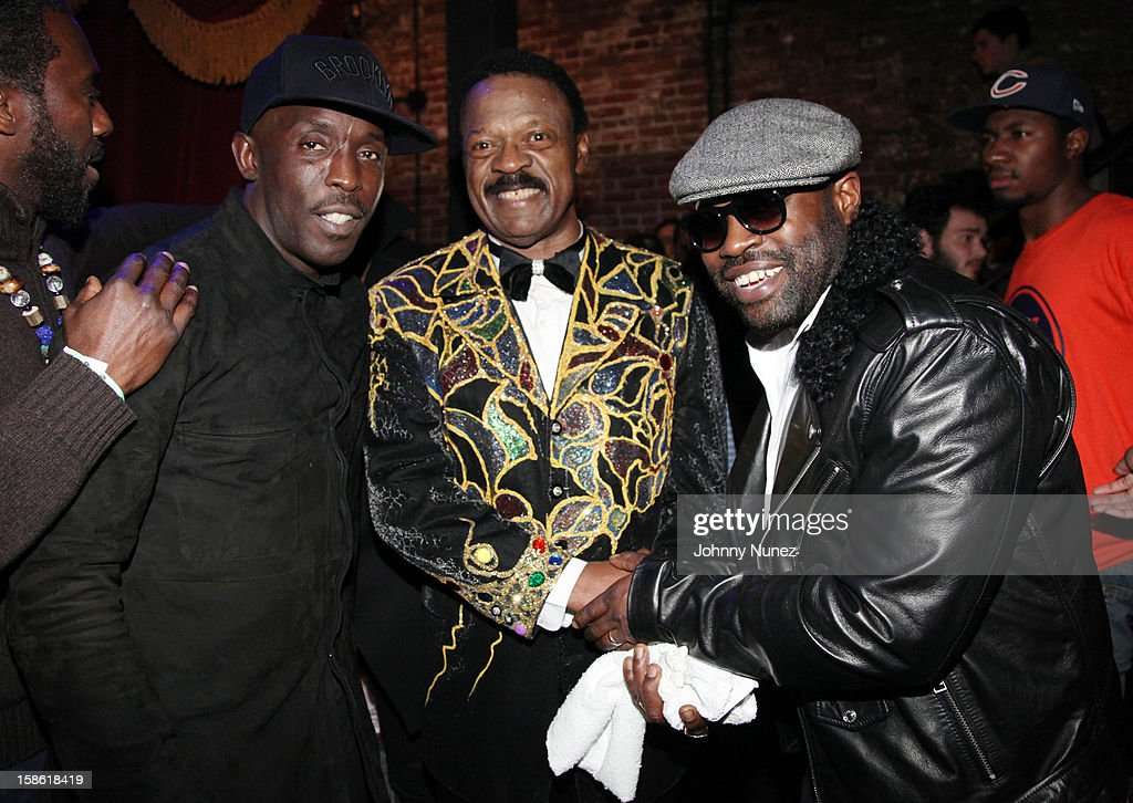 Gano Grills, <a gi-track='captionPersonalityLinkClicked' href=/galleries/search?phrase=Michael+K.+Williams&family=editorial&specificpeople=855658 ng-click='$event.stopPropagation()'>Michael K. Williams</a>, William Hart, and <a gi-track='captionPersonalityLinkClicked' href=/galleries/search?phrase=Black+Thought&family=editorial&specificpeople=228555 ng-click='$event.stopPropagation()'>Black Thought</a> attend Brooklyn Bowl on December 20, 2012, in New York City.