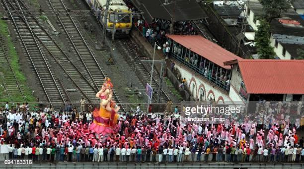 Ganpati immersion at Lalbaug in Mumbai