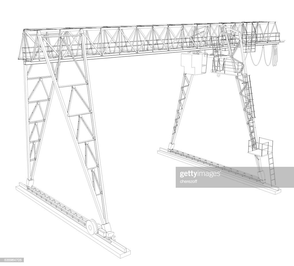 Gantry bridge crane : Stock Photo