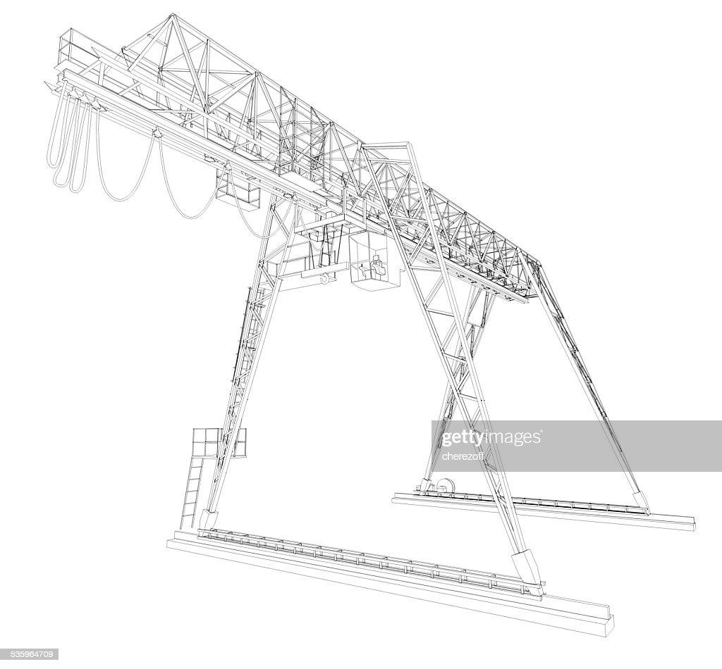 Gantry bridge crane : Stock Photo
