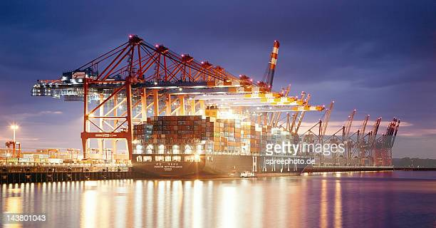 Gantry cranes at container Terminal Eurokai