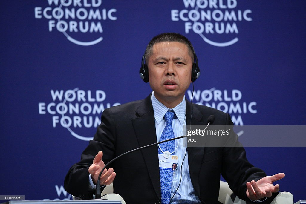 Gao Jifan, Chairman and Chief Executive Officer of Trina Solar (TSL), attends the interactive session 'Chinese Globalizers - Connecting through Corporate Global Citizenship' during the 2012 Tianjin Summer Davos at Meijiang Convention and Exhibition Center on September 13, 2012 in Tianjin, China. World Economic Forum 2012 Tianjin Summer Davos will be held from September 11 to 13, with the theme of 'Creating the Future Economy'.
