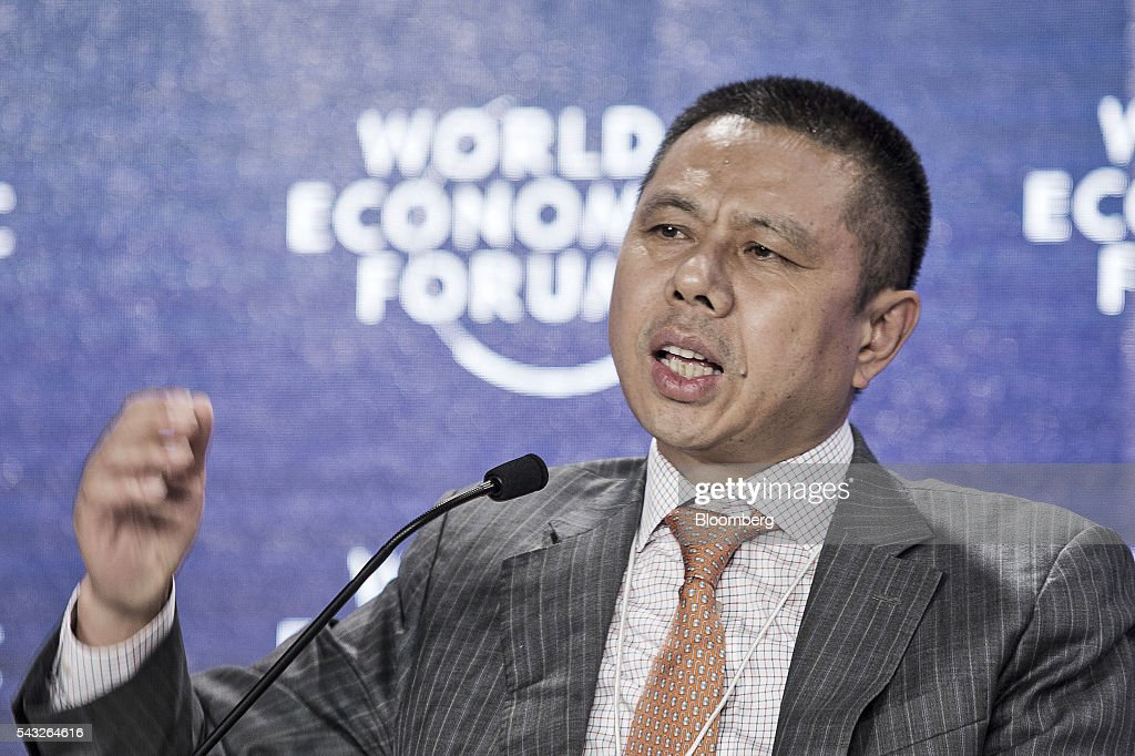 Gao Jifan, chairman and chief executive officer of Trina Solar Ltd., speaks during the World Economic Forum (WEF) Annual Meeting of the New Champions in Tianjin, China, on Monday, June 27, 2016. The meeting runs through June 28. Photographer: Qilai Shen/Bloomberg via Getty Images